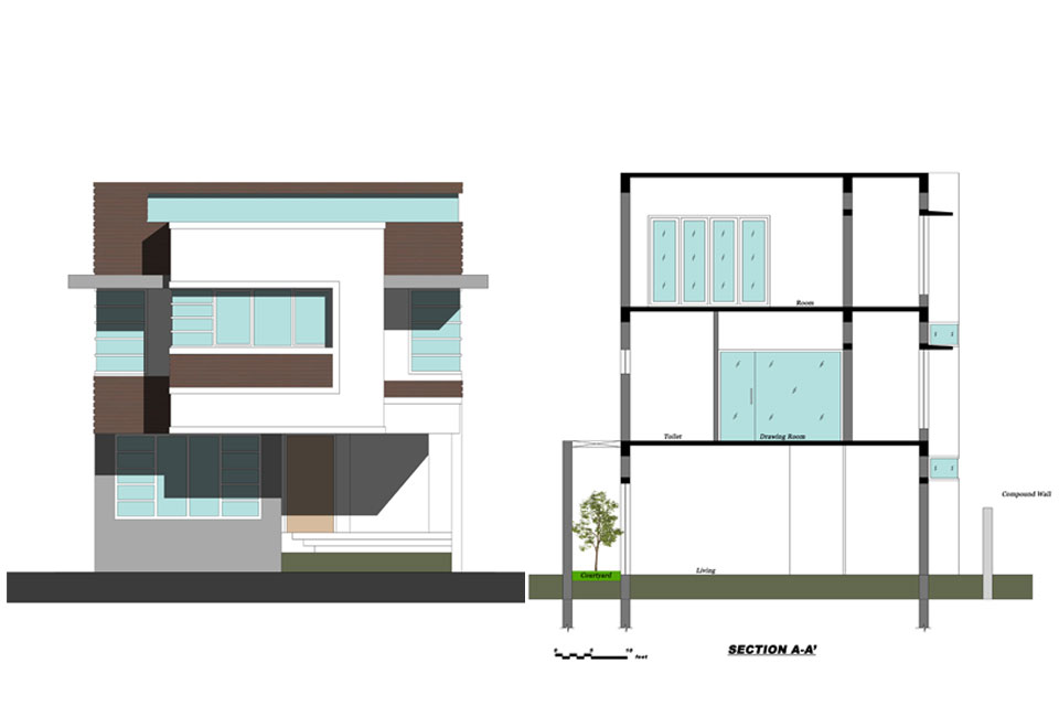 sait-colony-house-elevation-drawing